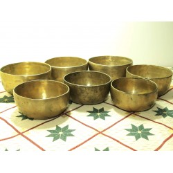 Advance Level - 7 Tibetan Singing Bowls Chakra Set - SEHF